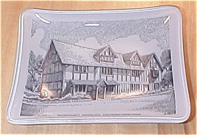 Glass Dish Shakespeare Birthplace Stratford on Avon by S. Ellis (Image1)