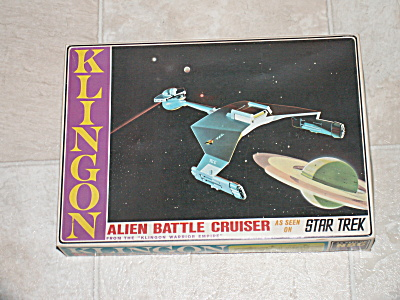 1966 Star Trek Amt Klingon Alien Battle Cruiser Model Kit Toy Box