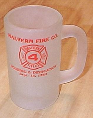 1982 Malvern Fire Company Commemorative Glass Mug, Malvern, Pa C (Image1)