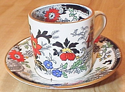 Coalport China Kings Ware Canton Demitasse Cup and Saucer E (Image1)