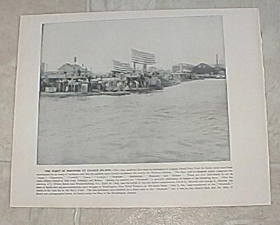 1898 Print, Fleet of Monitors at League Island Navy Yard, Naval Battle (Image1)