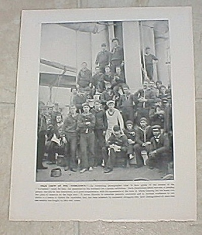 1898 Ship Print, USS Yorktown, USS New York Gunners Gang Petty Officer (Image1)