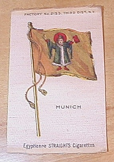 Egyptienne Straights Cigarettes Country & City Flag Cigarette Silks (Image1)