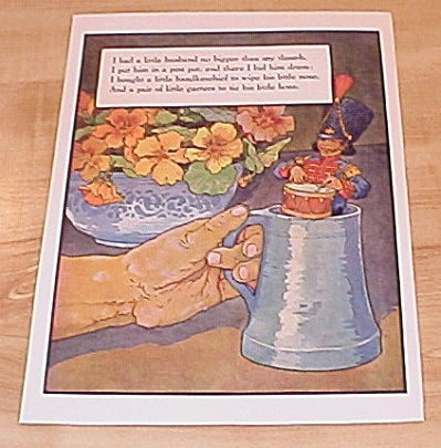 Little Husband Thumb & St. Ives 1915 Mother Goose Book Print Volland