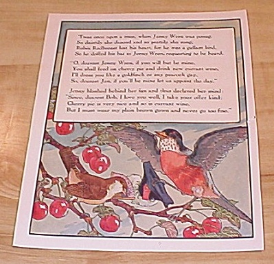 Jenny Wren & Man and Wife 1915 Mother Goose Book Print Volland Ed (Image1)