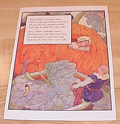 Peter Pumpkin Eater & Lady-bird 1915 Mother Goose Book Print Volland (Image1)