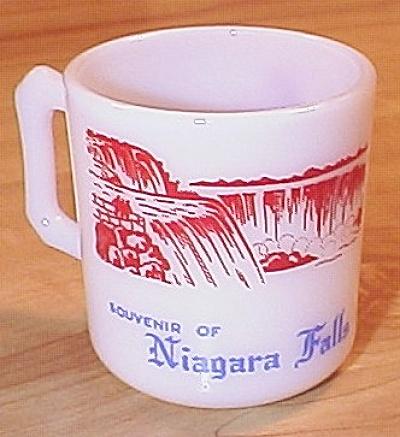 Souvenir Piece Hazel Atlas Glass Mug Niagra Falls, NY, Bottoms Up (Image1)
