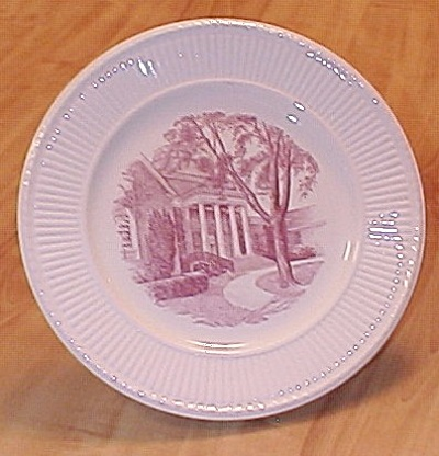 Wedgwood China University Of Delaware Plate Of Memorial Library