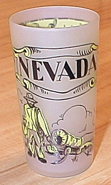 1940s Souvenir State Glass Nevada, Hazel Atlas Glass Company, A (Image1)