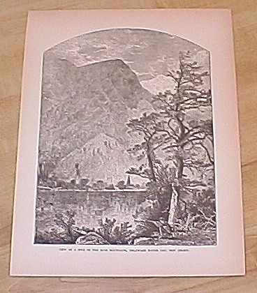 1885 Book Print, New Jersey Blue Mountains Spur, Delaware Water Gap