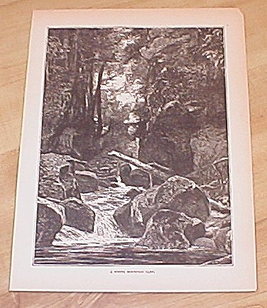 Antique 1885 Book Print, New Hampshire, White Mountain Glen (Image1)
