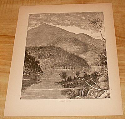 Antique 1885 Book Print, Preston Ponds, Andirondack Mtns., New York (Image1)