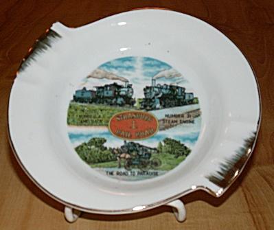 Souvenir China Ashtray Ash Tray PA Strasburg Rail Road Paradise (Image1)