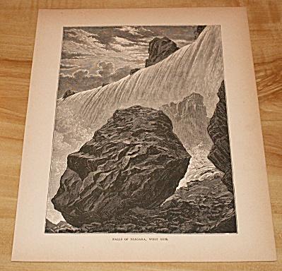 1885 Book Print, Falls of Niagara, West Side, Niagara Falls, New York (Image1)