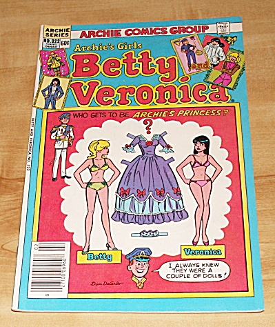 Archie Series:  Archie's Girls Betty and Veronica Comic Book No. 322 (Image1)