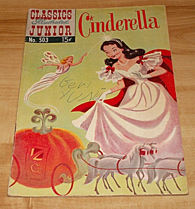 Classics Illustrated Junior: Cinderella Comic Book No. 503