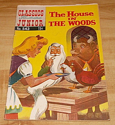Classics Illustrated Jr: The House In The Woods Comic Book No. 543