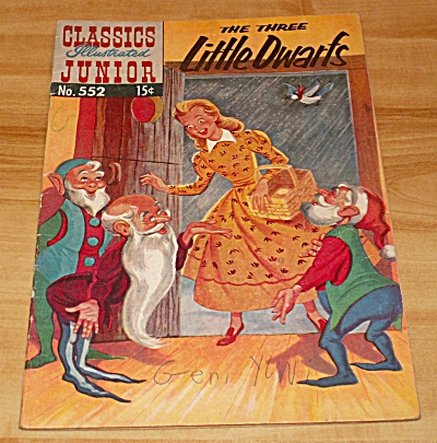 Classics Illustrated Jr. The Three Little Dwarfs Comic No. 552 1st Ed