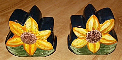 Sunflower Salt & Pepper Shaker Set Made By Pure Art, Arol Endres