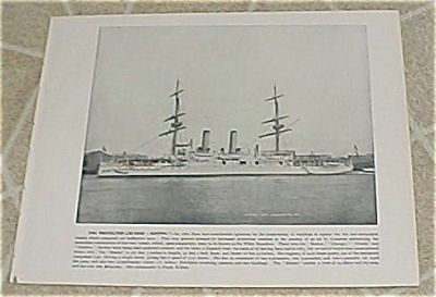 1898 Naval Ship Print, USS Boston, USS San Francisco, U.S. Navy (Image1)