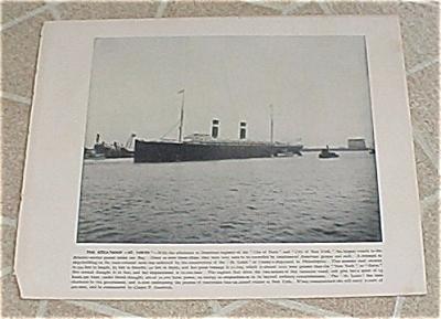 1898 Naval Navy Ship Antique Print, Steamship St. Louis, St. Paul (Image1)