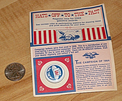 Reproduction 1964 Johnson Presidential Election Campaign Pin  (Image1)