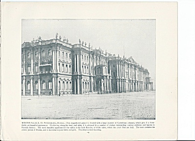 St. Petersburg, Russia 1892 Shepp's Photos Book Page, Winter Palace