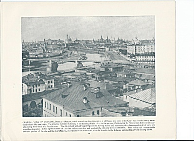 Moscow, Russia 1892 Shepp's Photographs Of World Original Book Page