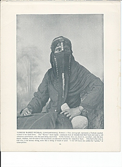 Constantinople, Turkey 1892 Shepp's Photos Book Page, Market-woman