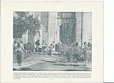 Constantinople, Turkey 1892 Shepp's Photos Book Pg, Street Merchants