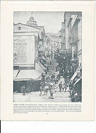 Constantinople, Turkey 1892 Shepp's Photos Book Page, Street Scene
