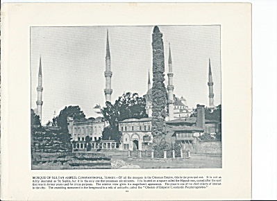 Constantinople, Turkey 1892 Shepp's Photos Book Pg Sultan Ahmed Mosque