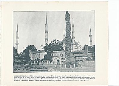 Constantinople, Turkey 1892 Shepp's Photos Book Pg Sultan Ahmed Mosque (Image1)