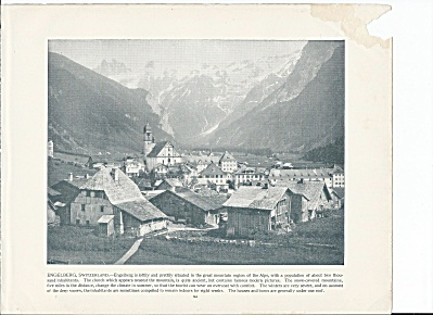 Engelberg, Switzerland 1892 Shepp's Photographs Original Book Page