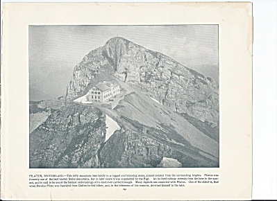 Pilatus, Alps, Switzerland 1892 Shepp's Photographs Original Book Pg.