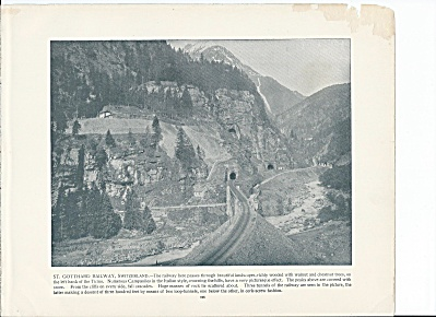 St. Gotthard Railway, Switzerland 1892 Shepp's Photographs Book Pg.