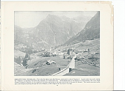 Simplon's Pass, Alps, Switzerland 1892 Shepp's Photographs Book Page