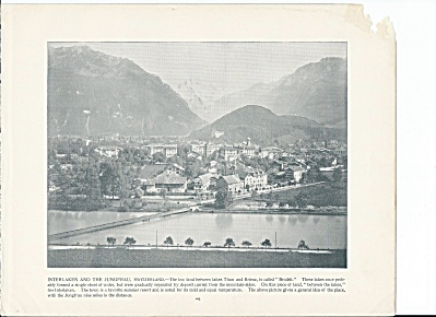 Interlaken, Switzerland 1892 Shepp's Photographs Original Book Page