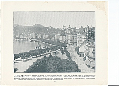 Lucerne, Switzerland 1892 Shepp's Photographs World Original Book Pg. (Image1)