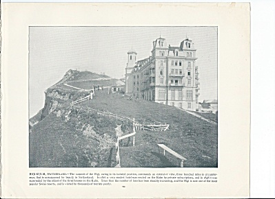 Rigi-kulm, Switzerland 1892 Shepp's Photographs Original Book Page