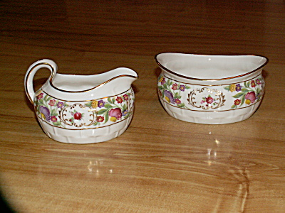 Vintage Hammersley China Sugar & Creamer, T. Goode & Co., London
