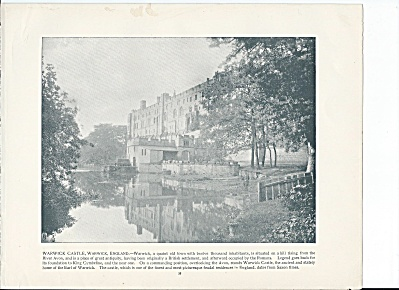 Warwick Castle, England 1892 Shepp's Photographs Book Page (Image1)