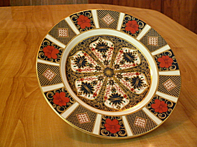 1960s Royal Crown Derby China English Old Imari 1128 Salad Plates