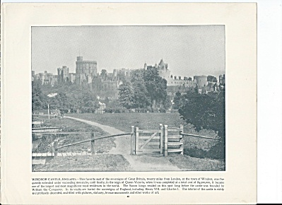 Windsor Castle, England 1892 Shepp's Photographs Book Page