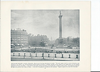 Trafalgar Square, London, England 1892 Shepp's Photographs Book Page