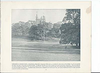 Greenwich Observatory, England 1892 Shepp's Photographs Book Page