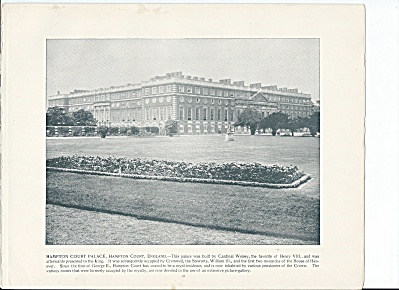 Hampton Court Palace England 1892 Shepp's Photographs Book Page