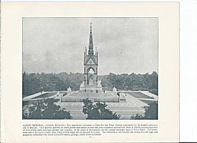 Albert Memorial, London England 1892 Shepp's Photographs Book Page (Image1)