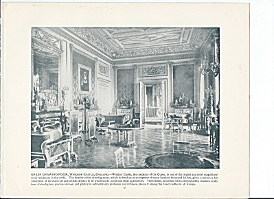 Green Room, Windsor Castle England 1892 Shepp's Photographs Book Page