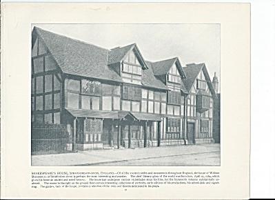 Shakespeare's House Stratford-on-Avon England 1892 Shepp's Photo Book (Image1)